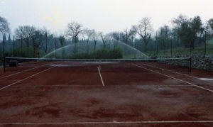 Campo da tenni terra rossa a Mantova